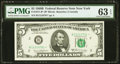 Fr. 1971-B* $5 1969B Federal Reserve Star Note. PMG Choice Uncirculated 63 EPQ
