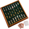 Baseball Collectibles:Others, 1999 Baseball Hall of Famers Chess Set from The Yogi BerraCollection....