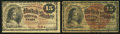 Fractional Currency:Fourth Issue, Fr. 1268 15¢ Fourth Issue Very Good or better. Two Examples.. ... (Total: 2 notes)