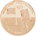 Explorers:Space Exploration, Apollo 11 Medal: Tenth Anniversary in 10K Gold, by the DanburyMint....