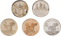 Explorers:Space Exploration, Apollo 11 Medals: Collection of Five in .999 Fine Silver....