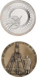 Explorers:Space Exploration, Apollo 11 Medals: Two Large Heavyweight in .999 Fine Silver. ...(Total: 2 Items)