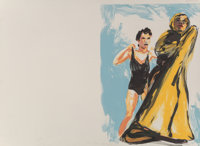 Eric Fischl (b. 1948) Annie, Gwen, Lilly, Pam, and Tulip (woman in black, woman in robe), 1986 Litho