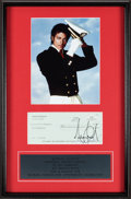 Music Memorabilia:Autographs and Signed Items, Michael Jackson Signed Check for $1,500,000 (New York, 2001)....