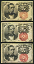 Fractional Currency:Fifth Issue, Fr. 1266 10¢ Fifth Issue Very Fine or better. Three Examples.. ...(Total: 3 notes)
