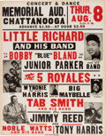 Music Memorabilia:Posters, Little Richard Memorial Auditorium Concert Poster (1957). Rare....