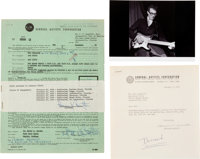 Buddy Holly and the Crickets - Norman Petty Signed Contract for Florida Engagement (1957)