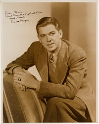 A Ronald Reagan Signed Sepia Photograph to Gloria Blondell [Joan's Younger Sister], Circa 1940