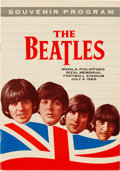 Music Memorabilia:Memorabilia, Beatles Manila Ultra Rare Tour Program (Philippines, 1966)....