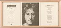 "John Lennon - United Nations ""Imagine All the People"" 50th Birthday Celebration Poster (1990)"
