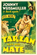 "Movie Posters:Adventure, Tarzan and His Mate (MGM, 1934). One Sheet (27"" X 41"") Style D,William Galbraith Crawford Artwork.. ..."