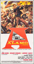 "Movie Posters:Western, The Alamo (United Artists, 1960). Three Sheet (41.5"" X 79""). Todd-AO style. Western.. ..."