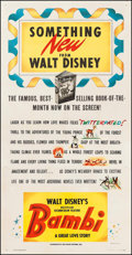 "Movie Posters:Animation, Bambi (RKO, 1942). Three Sheet (41.75"" X 80.5""). Animation.. ..."