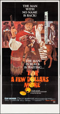"Movie Posters:Western, For a Few Dollars More (United Artists, 1967). Three Sheet (41"" X 79""). Western.. ..."