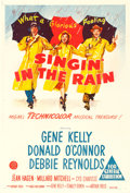 "Movie Posters:Musical, Singin' in the Rain (MGM, 1952). Australian One Sheet (27"" X 40"").. ..."