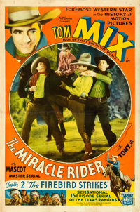 "The Miracle Rider (Mascot, 1935). Stock One Sheet & Chapter One Sheets (2) (27"" X 41""). ... (Total: 3 Item..."