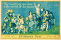 "Movie Posters:War, Federal Children's Bureau (W.F. Powers Co, 1918). Children's Year(29.5"" X 19.5"") Francis Mora Artwork.. ..."
