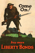 "Movie Posters:War, World War I Propaganda (U.S. Government Printing Office, 1918).Liberty Bond Poster (19.75"" X 29.25"") ""Come On! Buy More Lib..."