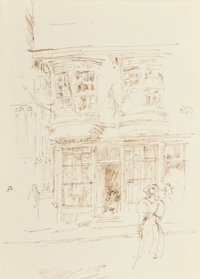 James Abbott McNeill Whistler (American, 1834-1903) In Cathedral Close, Canterbury, circa 1896 Ink o