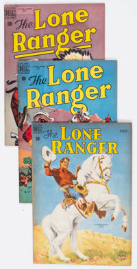 Lone Ranger Golden Age Canadian Editions Group of 4 (Dell, 1950-51) Condition: Average VF-.... (Total: 4 Comic Books)