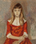 Fine Art - Painting, American, Moses Soyer (American, 1899-1974). Laura, 1965. Oil oncanvas . 30 x 25 inches (76.2 x 63.5 cm). Signed, dated, andtitl...