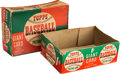 """Baseball Cards:Unopened Packs/Display Boxes, 1952 Topps Baseball """"Picture Card"""" 1-Cent Retail Wax Box (Empty). ..."""