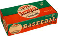 Baseball Cards:Unopened Packs/Display Boxes, 1954 Topps Baseball 5-Cent Wax Box (Empty). ...