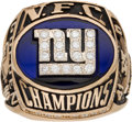 Football Collectibles:Others, 2000 New York Giants NFC Championship Ring Presented to Linebacker Jack Golden....