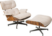 Charles Eames (American, 1907-1978) and Ray Kaiser Eames (American, 1912-1988) 670 Armchair and 671 Ottoman