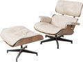 Furniture , Charles Eames (American, 1907-1978) and Ray Kaiser Eames (American, 1912-1988). 670 Armchair and 671 Ottoman, designed 1... (Total: 2 Items)