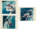 "Explorers:Space Exploration, Gemini 4: Group of Three Original NASA ""Red Number"" Ed White II EVAColor Photos. ... (Total: 3 Items)"
