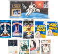 Explorers:Space Exploration, SpaceShots and Man on the Moon Vintage Trading Cards and STS-68Launch Cover with $9.95 Mint Stamp. ...
