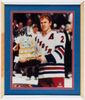 Hockey Collectibles:Photos, 1993-94 Brian Leetch Signed Photograph....