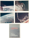 "Explorers:Space Exploration, Gemini 8 & Gemini 9A: Group of Five Original NASA ""Red Number""Color Photos. ... (Total: 5 Items)"