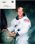 Autographs:Celebrities, Al Worden Signature with White Spacesuit Color Photo. ... (Total: 2Items)