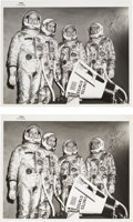 Autographs:Celebrities, James Lovell Signed Original NASA Gemini 4 Spacesuit Photos(Two).... (Total: 2 Items)