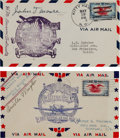 Transportation:Aviation, [Aviation] Orville Wright and First Flight Witness John T. MooreSigned 1938 Airmail Covers. ... (Total: 2 Items)