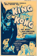 "Movie Posters:Horror, King Kong (RKO, R-1952). Silk Screen Poster (40"" X 60"").. ..."