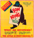 "Movie Posters:Horror, Son of Kong (RKO, 1933). British Six Sheet (81"" X 87.5"").. ..."
