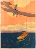"Movie Posters:Foreign, Victory or Death (Itala Film, 1913). Italian Four Panel (81"" X112"") Airplane Style, Leopoldo Metlicovitz Artwork.. ..."