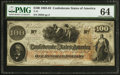 Confederate Notes:1862 Issues, Issued Oct. 25, 1862 Major J(ames) F. Cummings T41 $100 1862.. ...