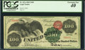 Large Size:Legal Tender Notes, Fr. 167a $100 1863 Legal Tender PCGS Extremely Fine 40.. ...