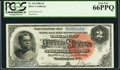 Large Size:Silver Certificates, Fr. 243 $2 1886 Silver Certificate PCGS Gem New 66PPQ.. ...