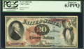 Large Size:Legal Tender Notes, Fr. 127 $20 1869 Legal Tender PCGS Choice New 63PPQ.. ...