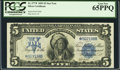 Large Size:Silver Certificates, Fr. 277* $5 1899 Silver Certificate PCGS Gem New 65PPQ.. ...