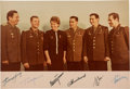 Autographs:Celebrities, Soviet Cosmonauts Vintage Color Photo Signed by the First Six to Fly in Space. ...