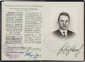 Explorers:Space Exploration, Valeri Kubasov's Soviet Flight Certificate, Essentially anInternational Passport....