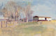 Wolf Kahn (American, b. 1927) Mobile Home in Arkansas, 1977 Oil on canvas 18 x 28 inches (45.7 x 71.1 cm) Signed low