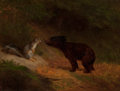 Paintings, William Holbrook Beard (American, 1824-1900). Unlikely Friends. Oil on canvas. 12 x 15 inches (30.5 x 38.1 cm). Signed l...