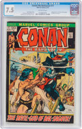 Bronze Age (1970-1979):Adventure, Conan the Barbarian #17 (Marvel, 1972) CGC VF- 7.5 Off-white pages....